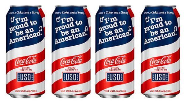 Patriotic Coca-Cola cans