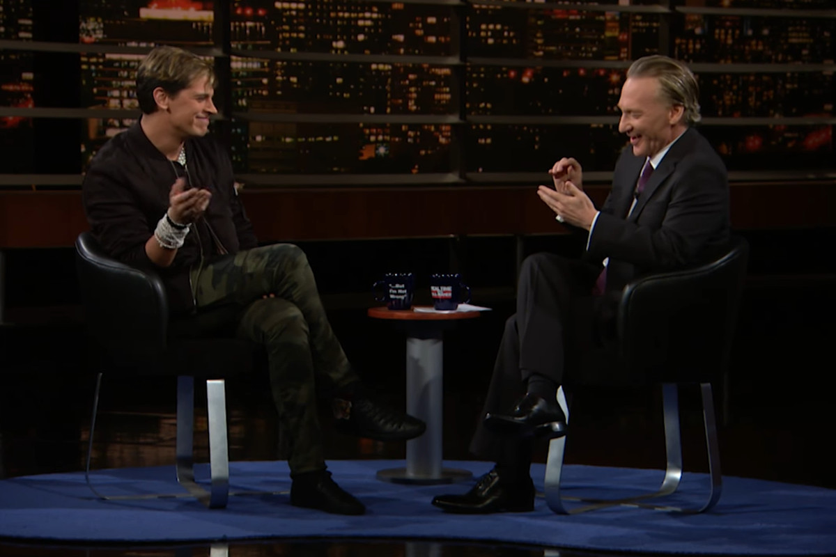 Milo Yiannopoulos appears on Bill Maher's show.