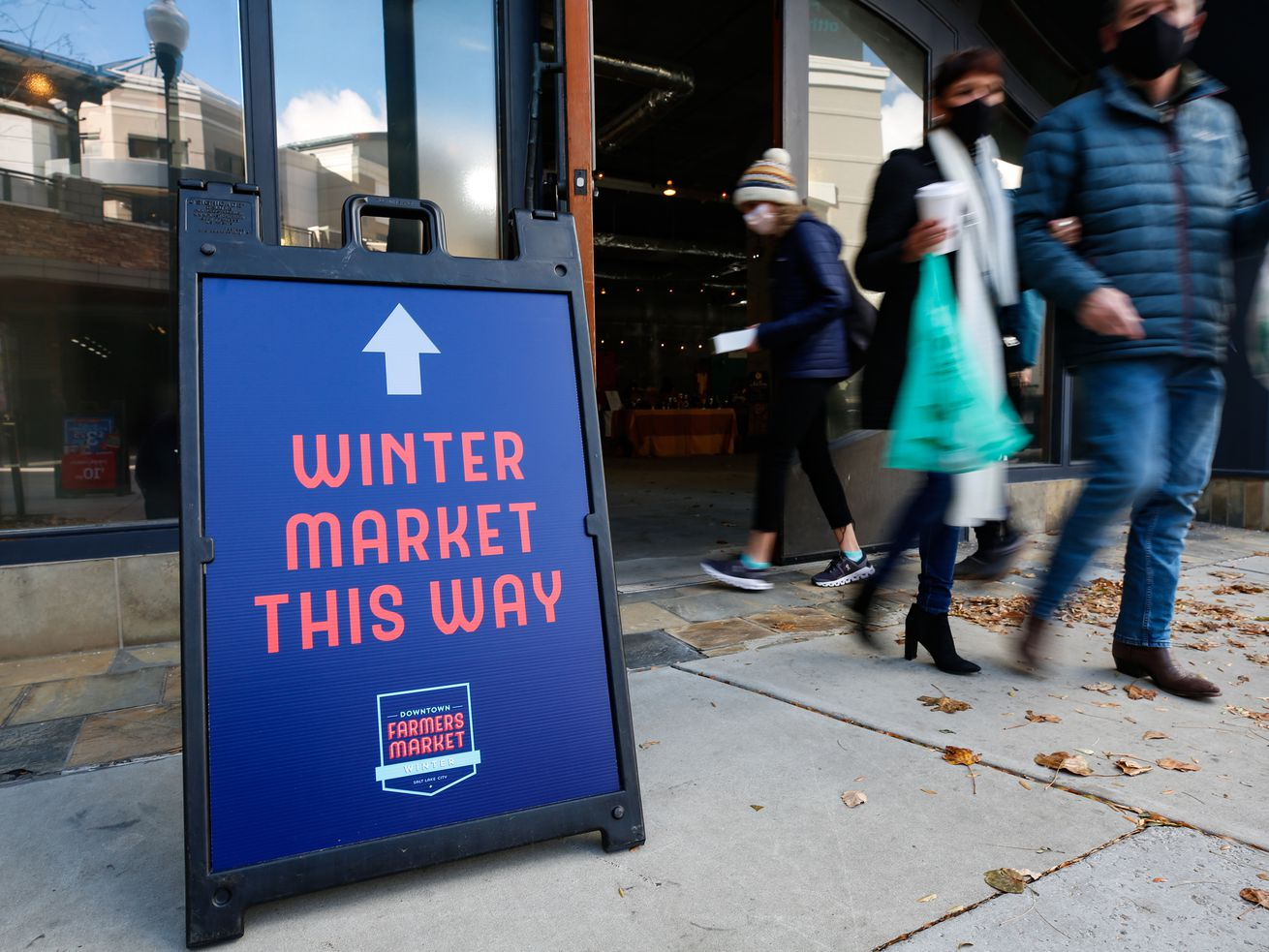 People visit the opening day of the Winter Market at The Gateway in Salt Lake City on Saturday, Nov. 14, 2020.
