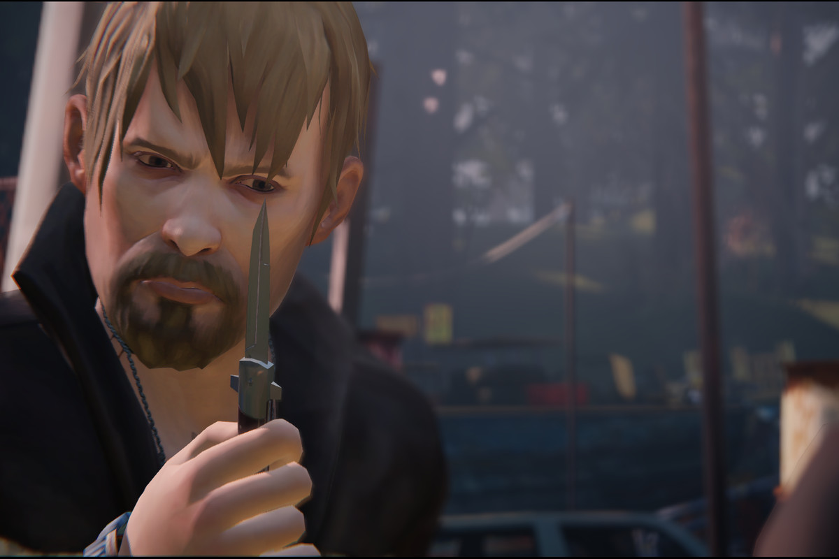 frank from life is strange with a knife