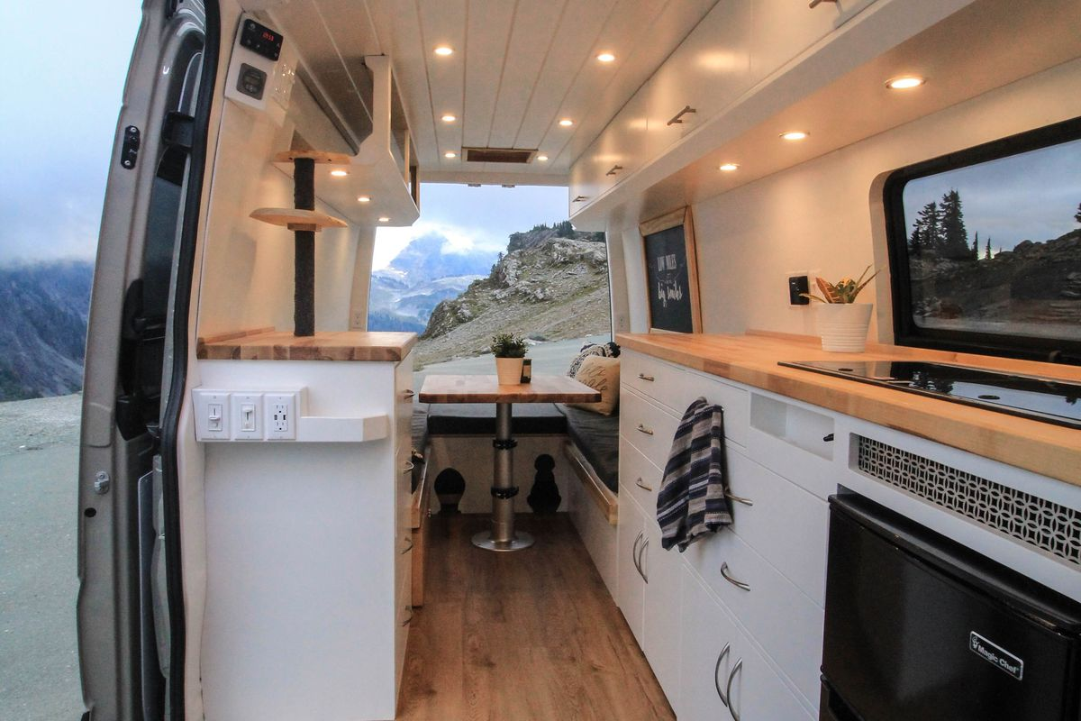 Ford Transit Rv >> Converted camper van is a cozy home on wheels - Curbed
