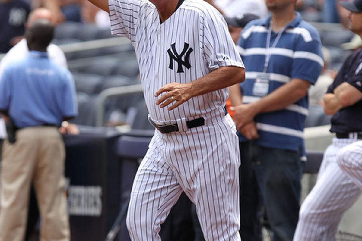 NEW YORK, NY - JUNE 26:  Lou Piniella is introduced during The New York Yankees 65th Old Timers Day game on June 26, 2011 at Yankee Stadium in the Bronx borough of New York City.  (Photo by Al Bello/Getty Images)