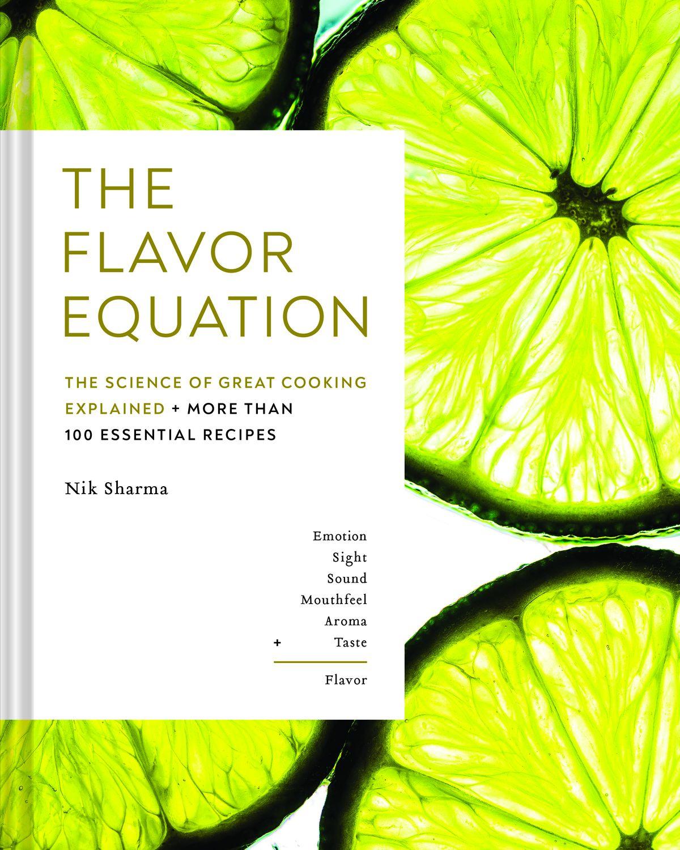 Un gros plan de tranches de citron vert sur la couverture de l'équation de la saveur