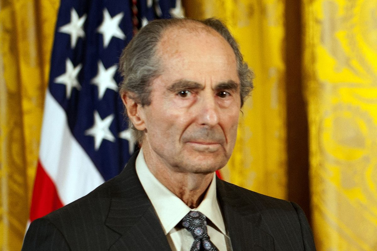 This file photograph taken on March 2, 2011, shows US novelist Philip Roth as he stands during a ceremony at the White House in Washington D.C, where he received the National Humanities Medal.