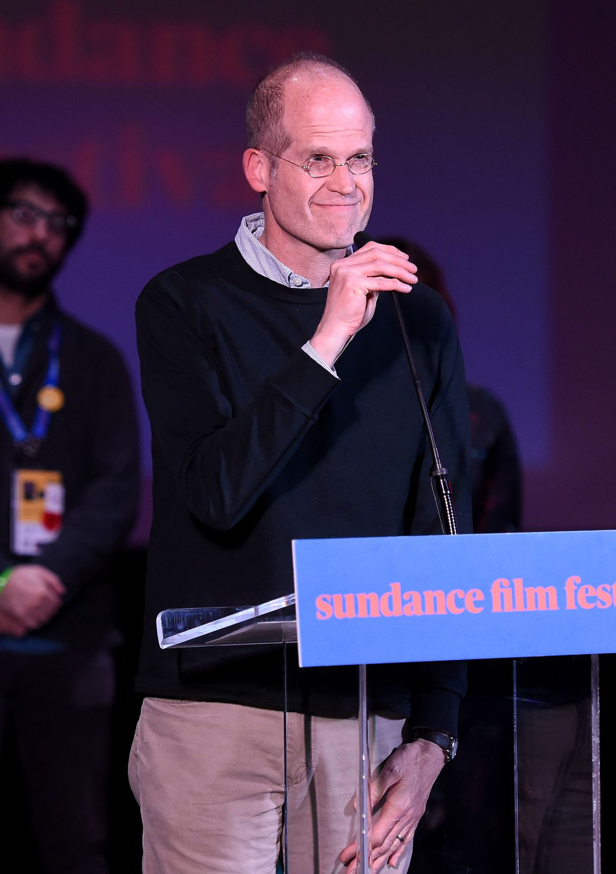 Cartoonist Chris Ware speaks Tuesday during the Shorts Program Awards and Party during the 2018 Sundance Film Festival in Park City, Utah. |<br>Nicholas Hunt/Getty Images