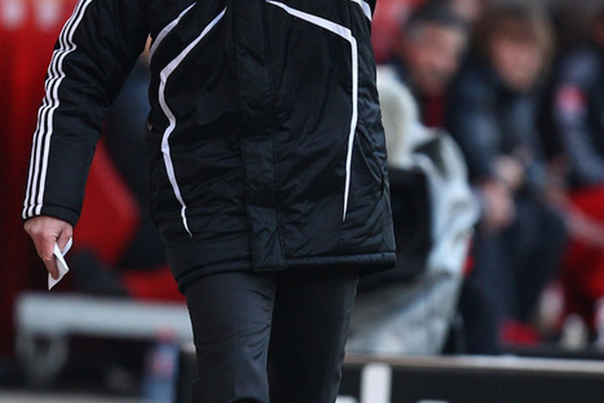 I'm not going to lie, I intentionally chose a photo in which Steve McClaren looks crazy.