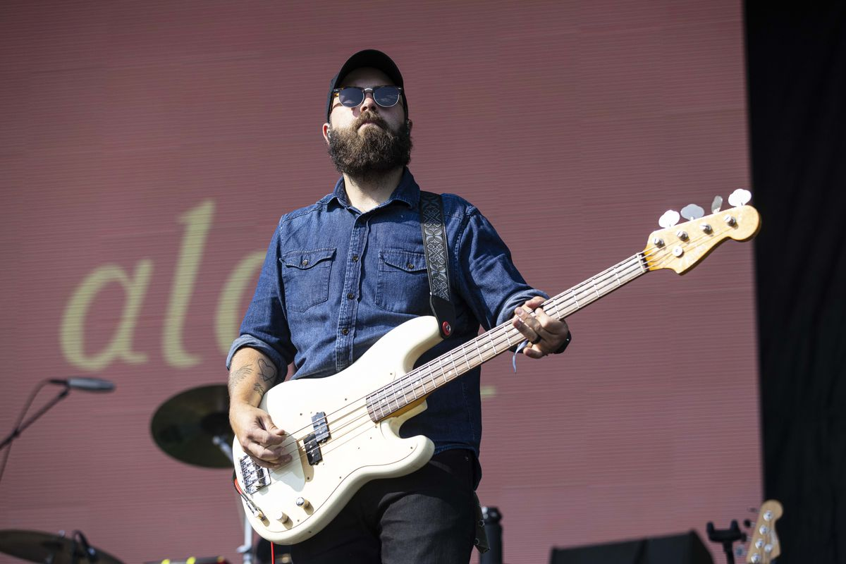 Tyler Long of Hop Along performs on Day 1 of the Pitchfork Music Festival.