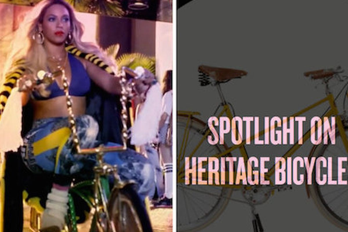 """Photo: <a href=""""http://www.dnainfo.com/chicago/20140417/lakeview/beyonce-gives-shoutout-chicagos-heritage-bicycles-on-her-site"""">via</a> DNA Info"""