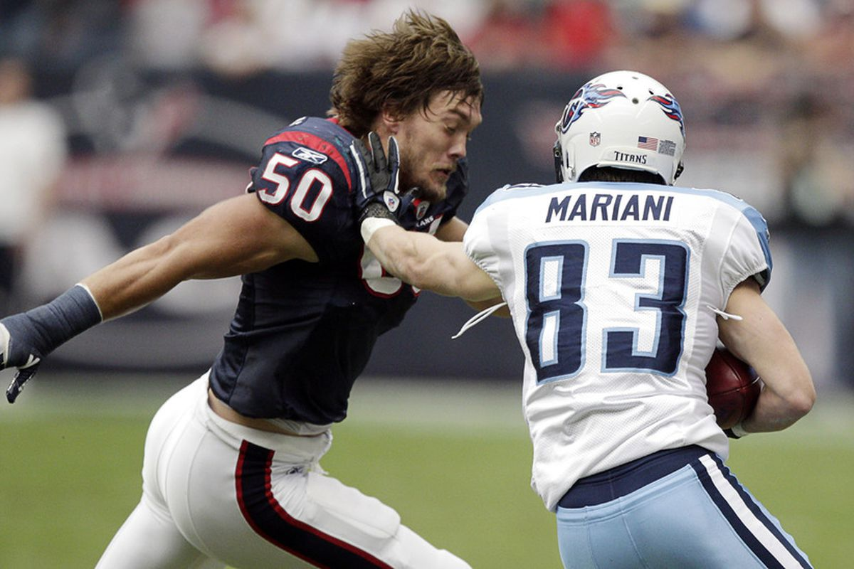 Just to be clear: tackling without a helmet is tough, but leading with your head during that tackle is just endlessly stupid.