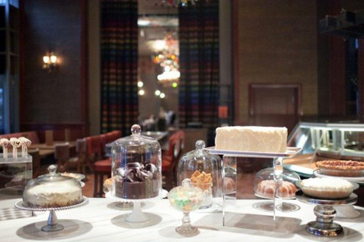 Dessert display at Southern Art and Bourbon Bar