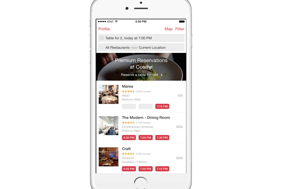 OpenTable Joins PaytoPlay Reservation Wars Offers Hot Tables For - Table reservations nyc