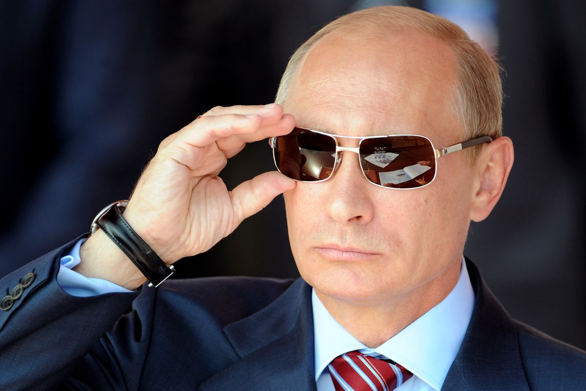 Is Putin reading your mind behind those sunglasses? Who can say?