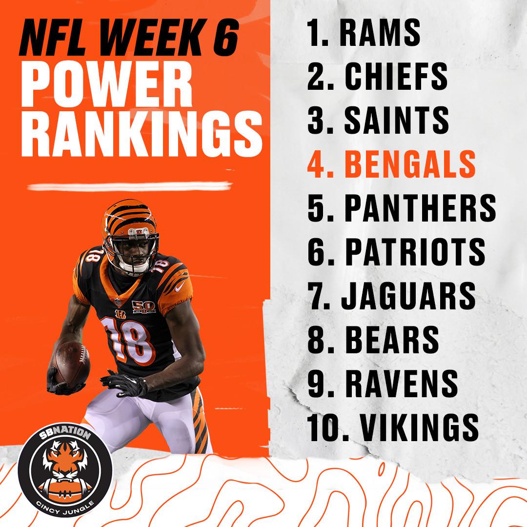 33eb5815 NFL Week 6 Power Ranking Roundup: Bengals climbing - Cincy Jungle