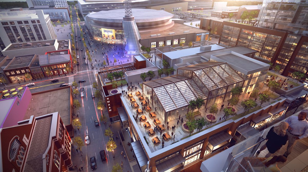 View Of The Food Hall Co S Proposed Rooftop Venue At Fifth Broadway Submitted