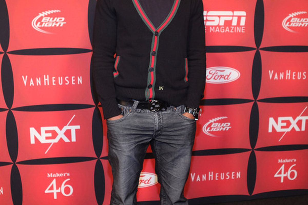 """INDIANAPOLIS, IN - FEBRUARY 03:  Professional football player Jermichael Finley attends ESPN The Magazine's """"NEXT"""" Event on February 3, 2012 in Indianapolis, Indiana.  (Photo by Robin Marchant/Getty Images for ESPN)"""