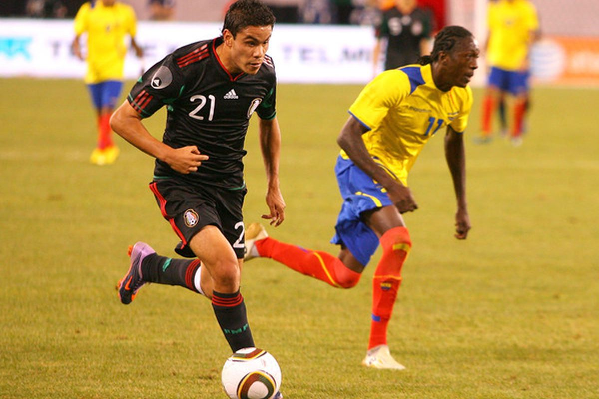 Pablo Barrera was Mexico's best attacking threat against Brazil.