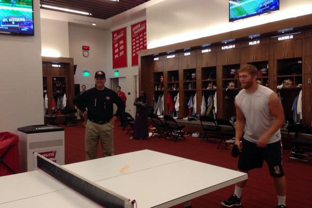 49ers Ping Pong Table Will Clearly Destroy The Team From