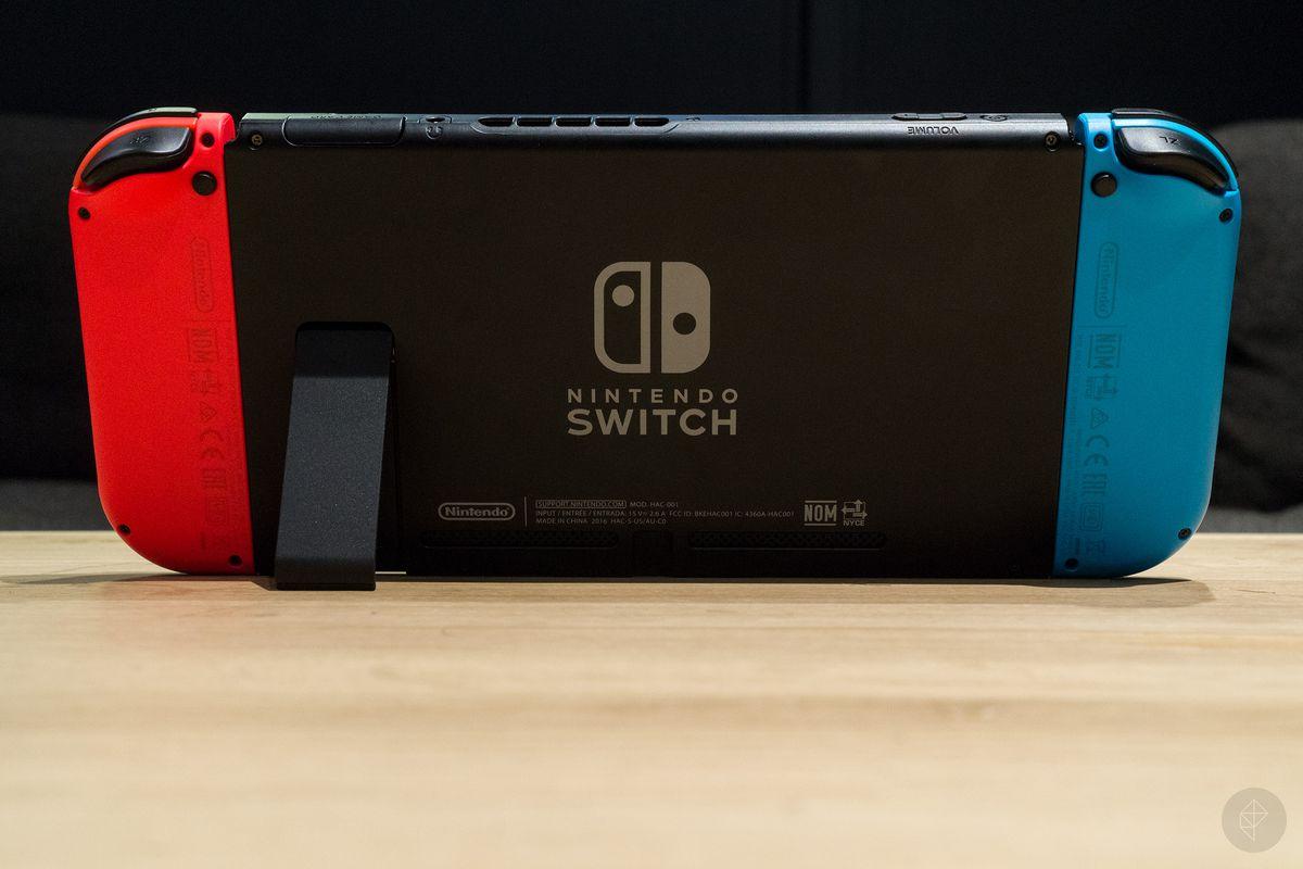 Nintendo Switch back photo