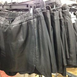 Scoop NYC Leather Shorts, $59