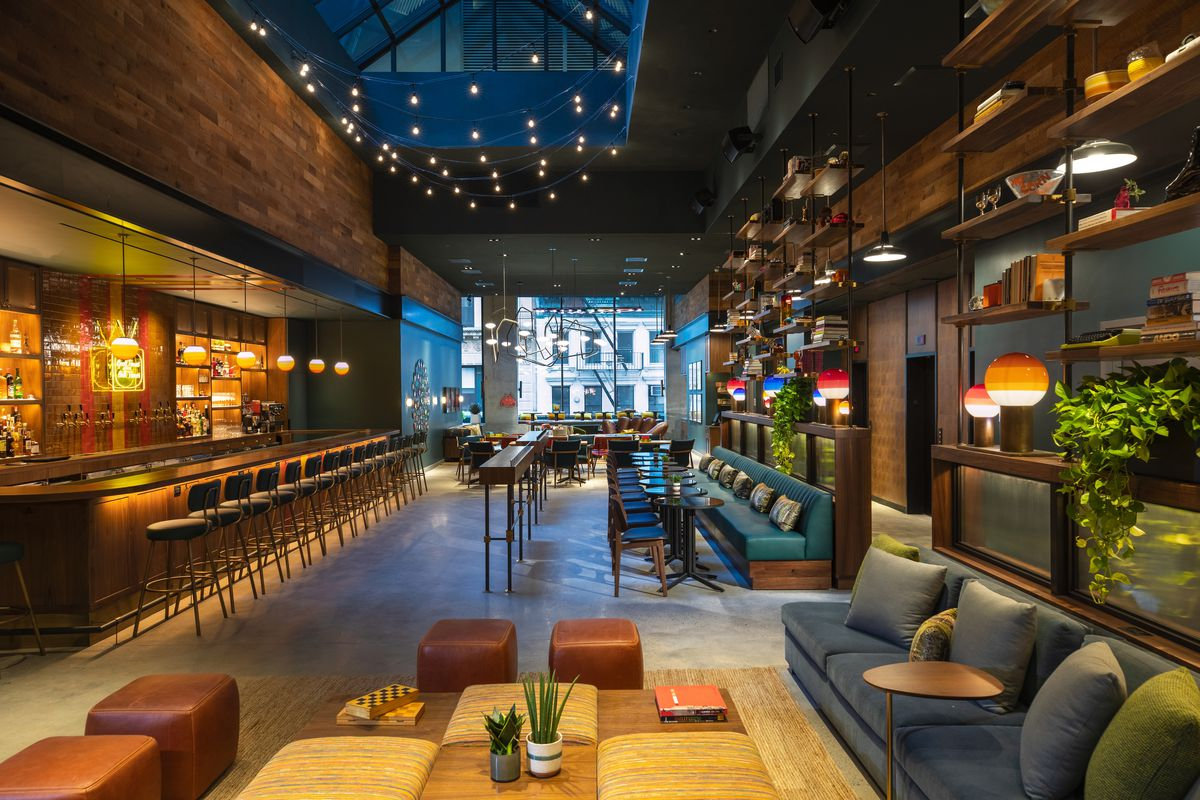 Recreation Opens in Moxy Hotel With a Basketball Half Court