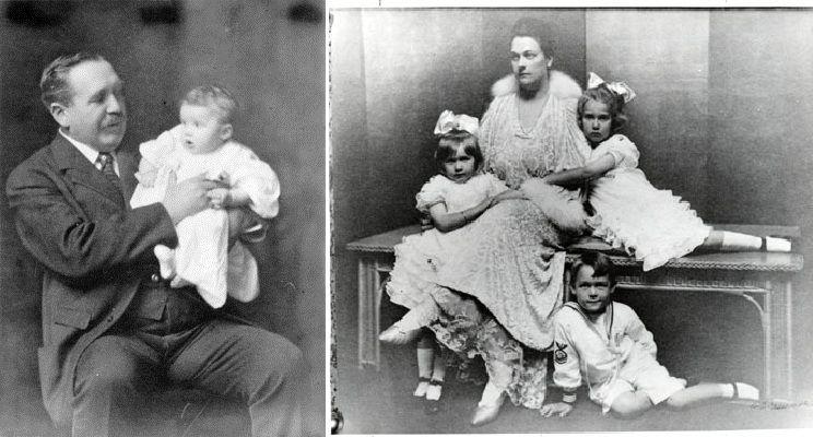 AdolphandAlmawith their children.