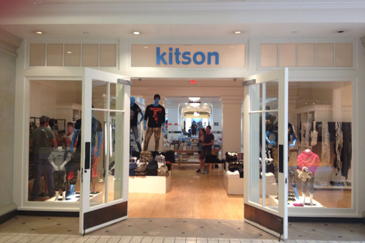 """Kitson <a href=""""http://la.racked.com/archives/2013/08/29/kitson_kicks_off_beverly_center_debut_with_designer_drug_tees.php"""">Beverly Center</a>"""
