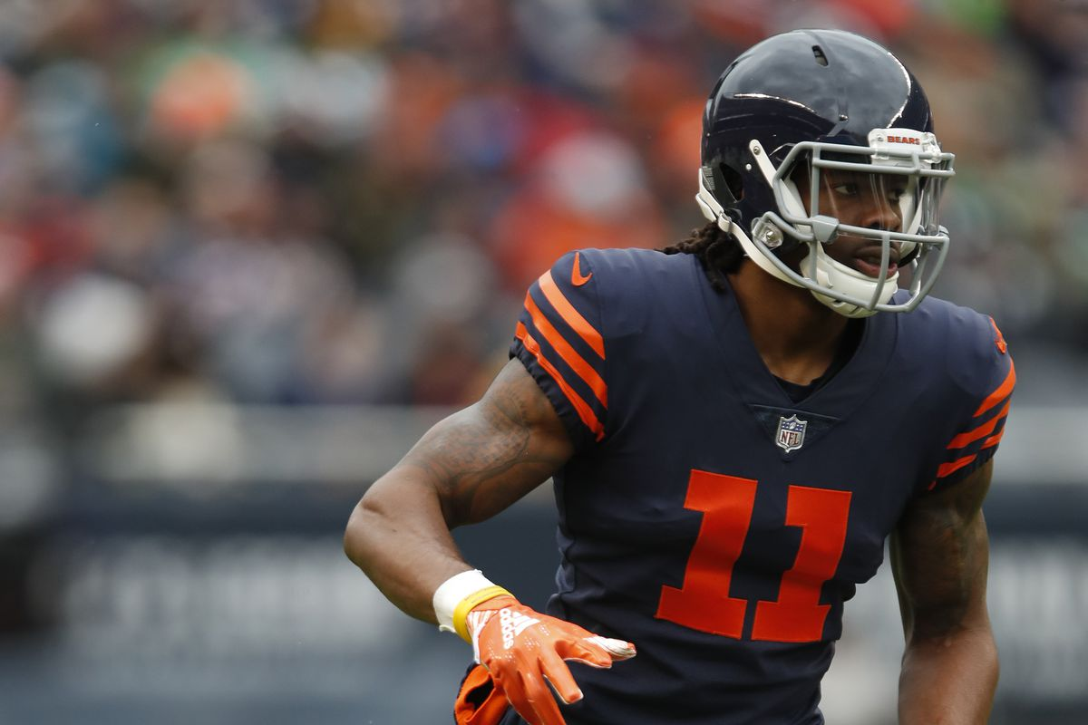 Former Bears receiver Kevin White lines up against the Jets in 2018.