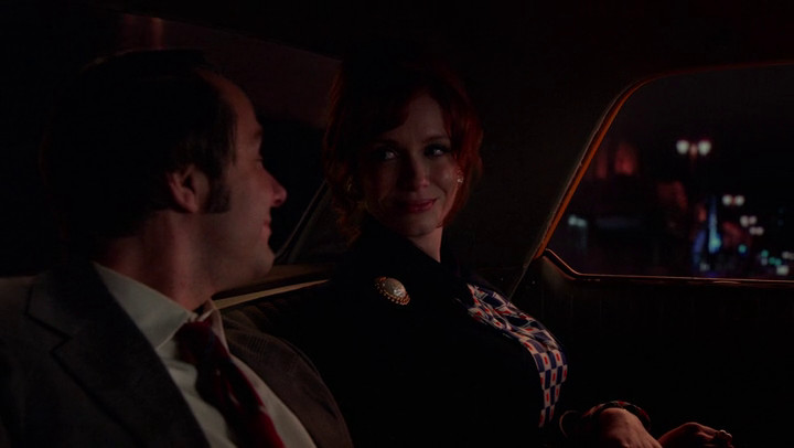 Pete and Joan take a ride together on Mad Men.