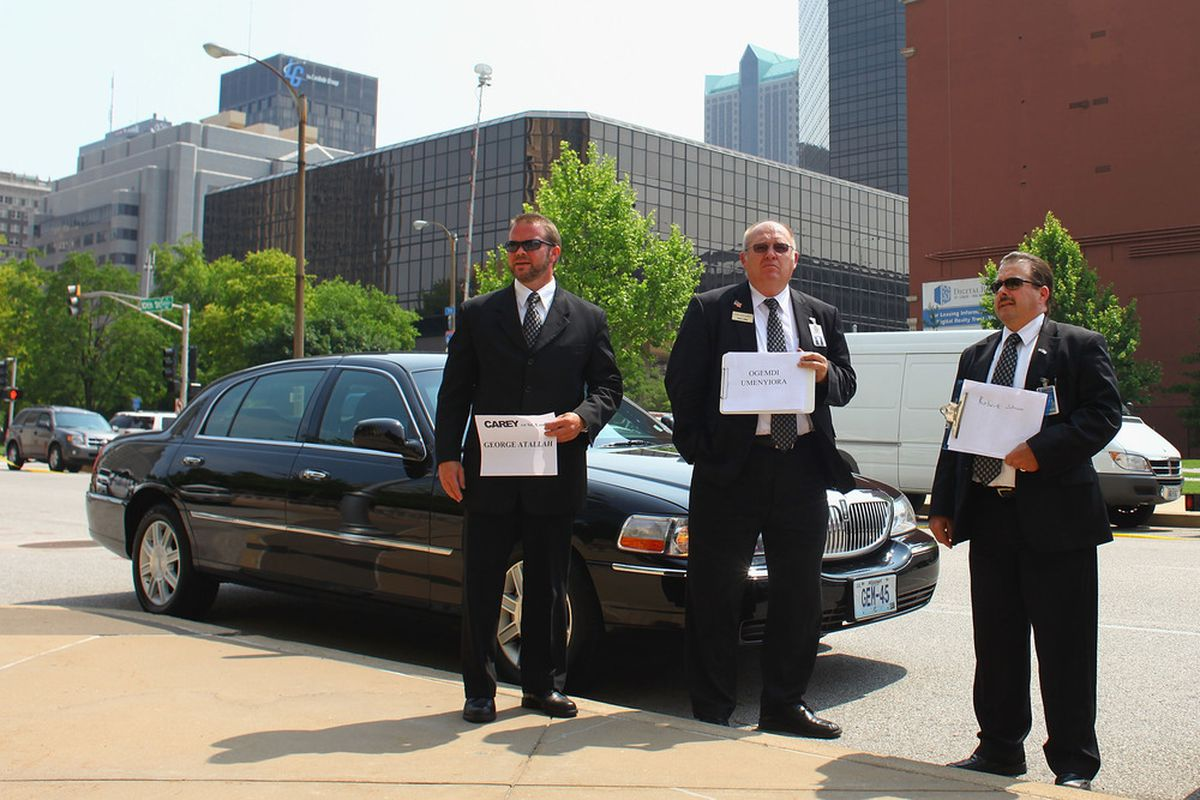 Not sure what these limo drivers are protesting, but they should make their picket signs bigger.