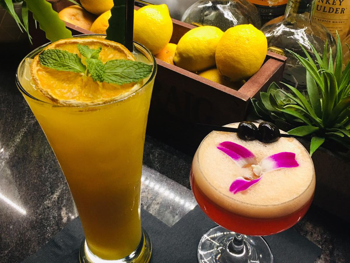 Two nonalcoholic drinks