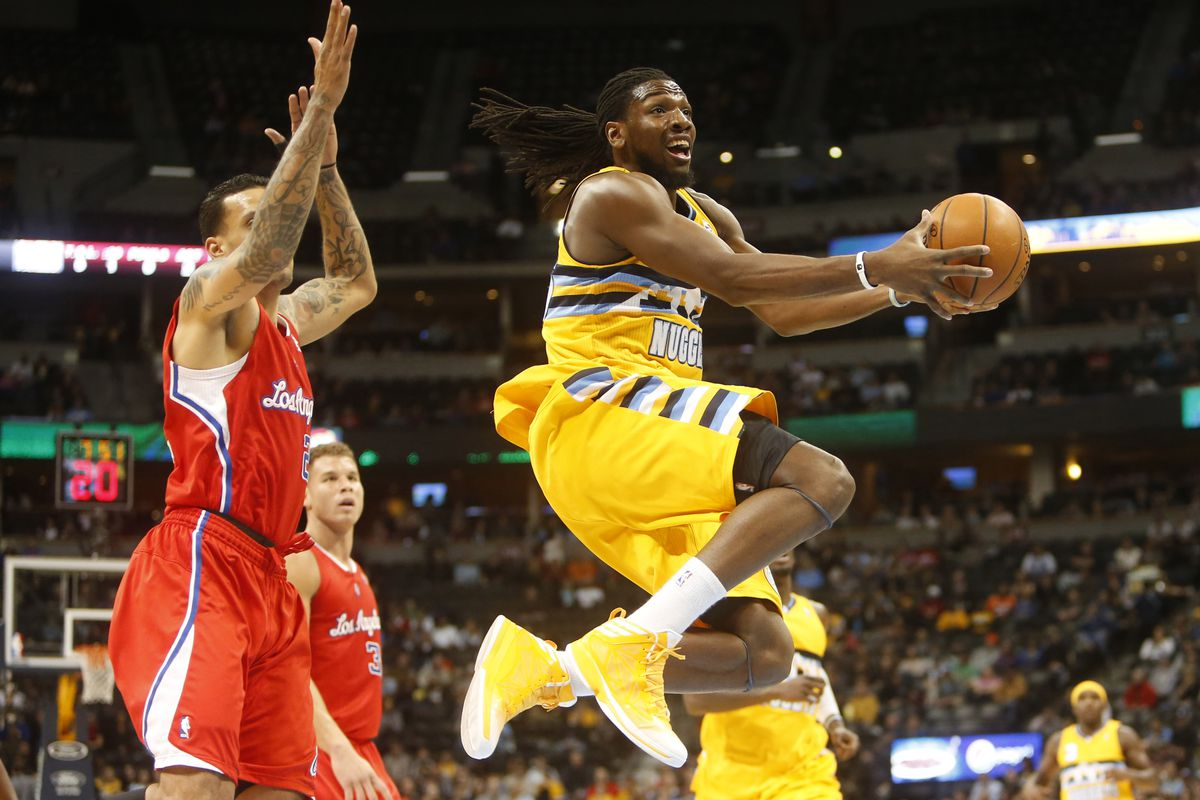 Manimal soars toward the hoop against the Clippers.