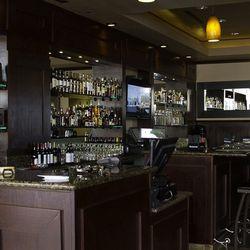 The bar at La Casa Cigars & Lounge.