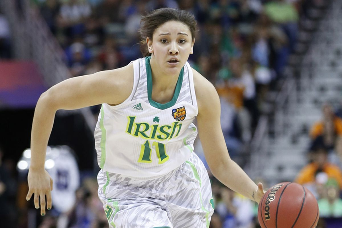 Notre Dame center Natalie Achonwa had her first double-double of the season against Duquesne in front of her home fans.