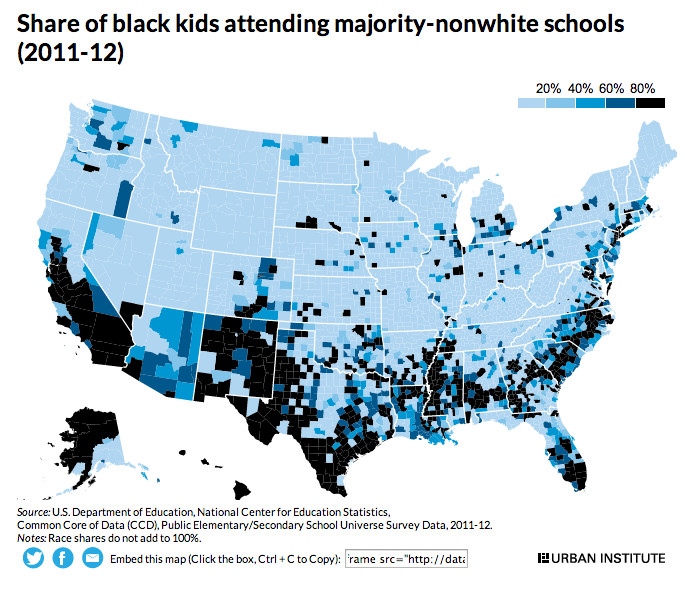 Maps That Show School Segregation In The US Vox - Map of segregation in us