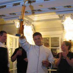 Mercat's Michael Fiorello with his trophy