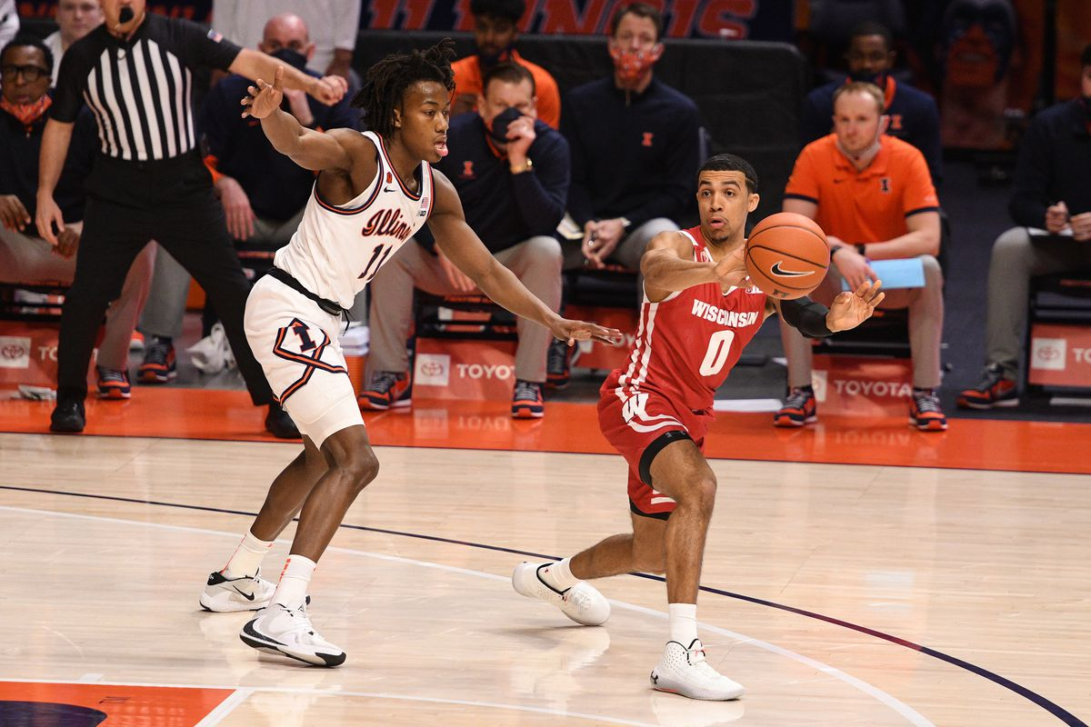 COLLEGE BASKETBALL: FEB 06 Wisconsin at Illinois