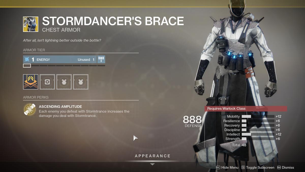 Stormdancer's Brace Destiny 2