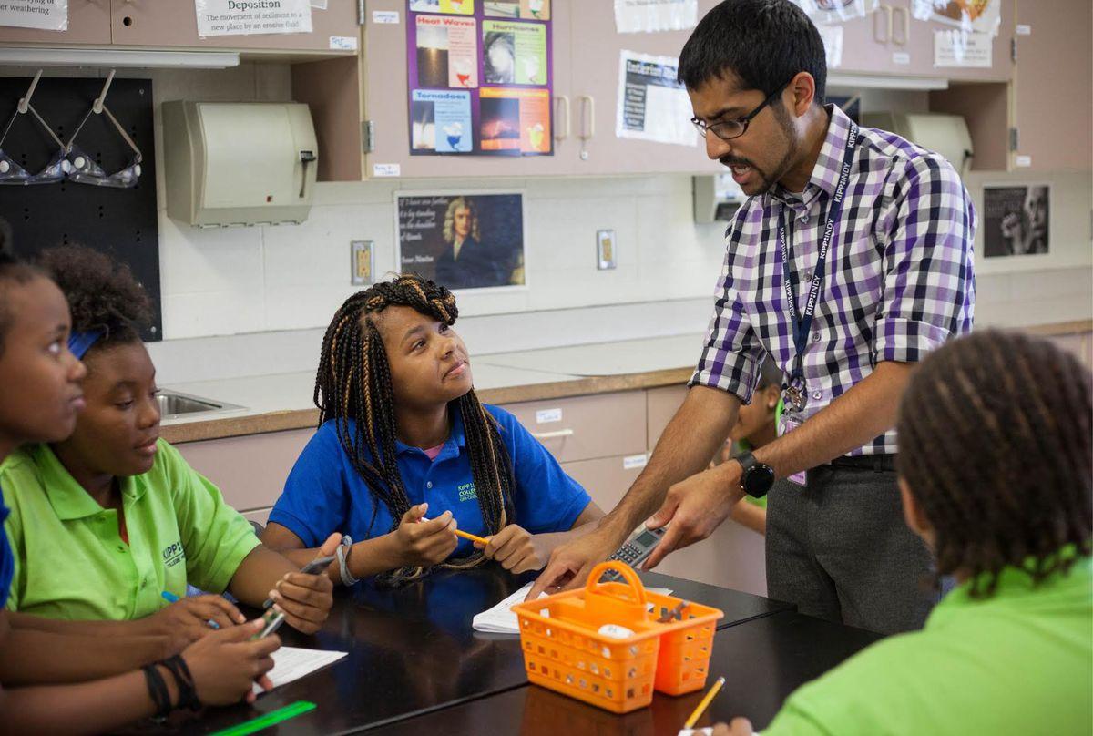 Ronak Shah teaching at KIPP Indy.