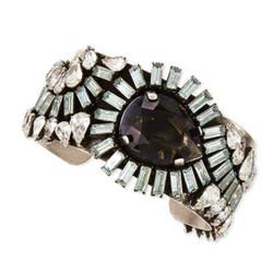 "Valentina Silvertone Multi-Crystal Cuff, $150 via <a href=""http://www.neimanmarcus.com/Dannijo-Valentina-Silvertone-Multi-Crystal-Cuff/prod171690144/p.prod?ecid=NMAP_bracelets%20%2526%20bangles_desktop"">Neiman Marcus</a>"