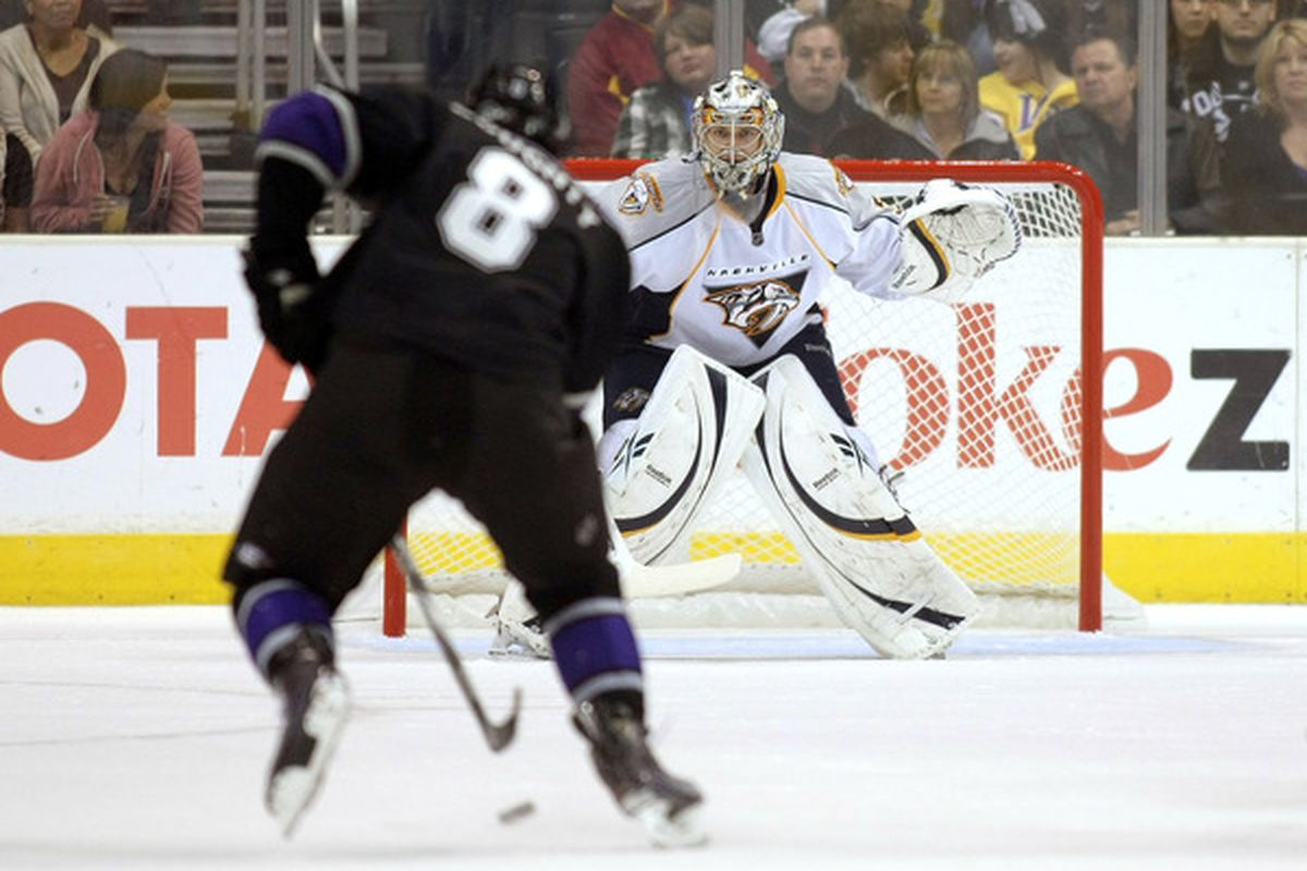 The Los Angeles Kings held a 2-0 lead in the second period, but then surrendered five unanswered goals to lose their fifth straight game, 5-2 to the Nashville Predators at Staples Center.