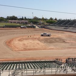 A wider view of the field, infield dirt still preserved