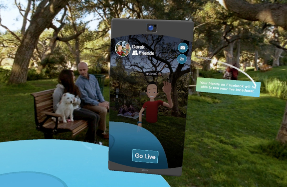Facebook's social virtual reality product Spaces.