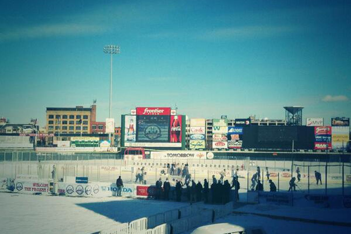 Lake Erie Monsters arrive at Frontier Field Thursday