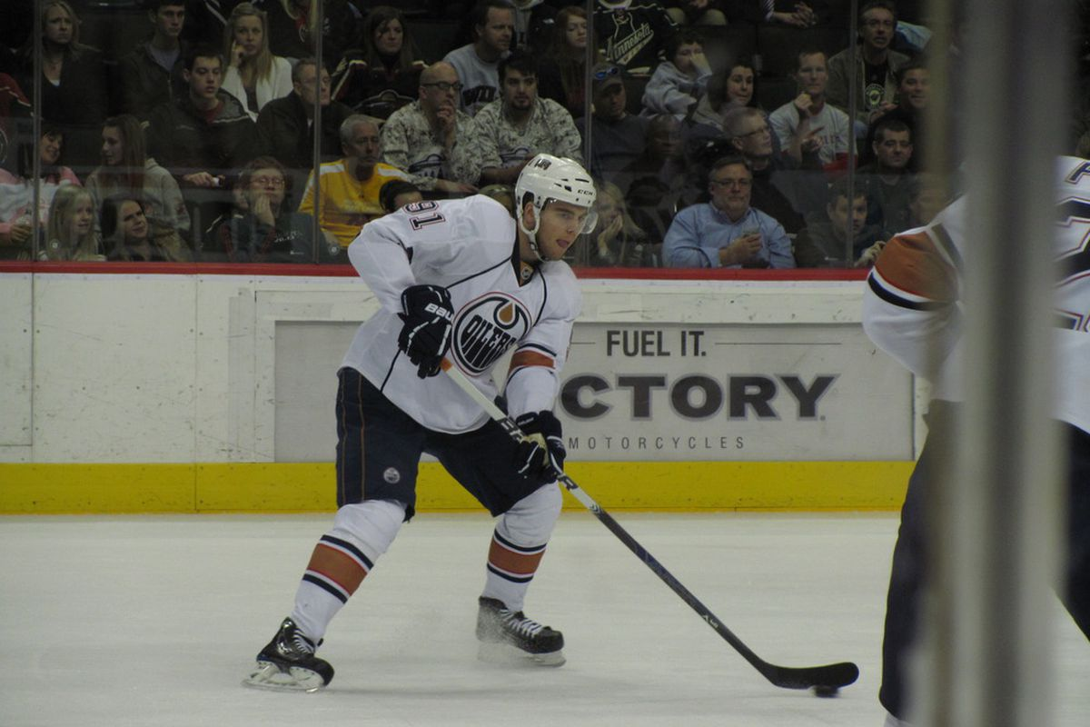 Magnus Paajarvi, one of the last hopes for exciting hockey. Photo by Lisa McRitchie all rights reserved.