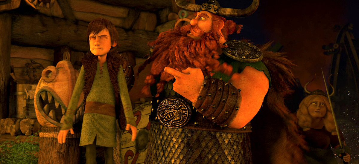 hiccup and stoic the vast in how to train your dragon