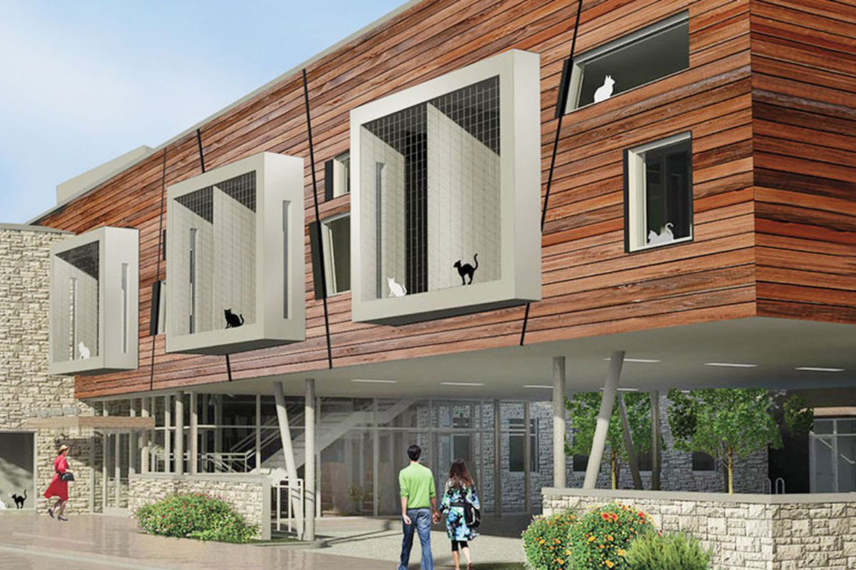 Rendering of Tree House Humane Society's shelter