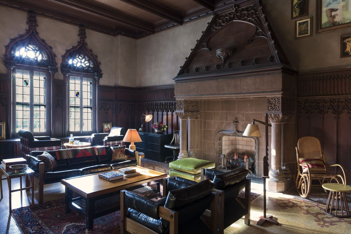 Drawing Room's old school space features vintage furnishings and fireplaces.