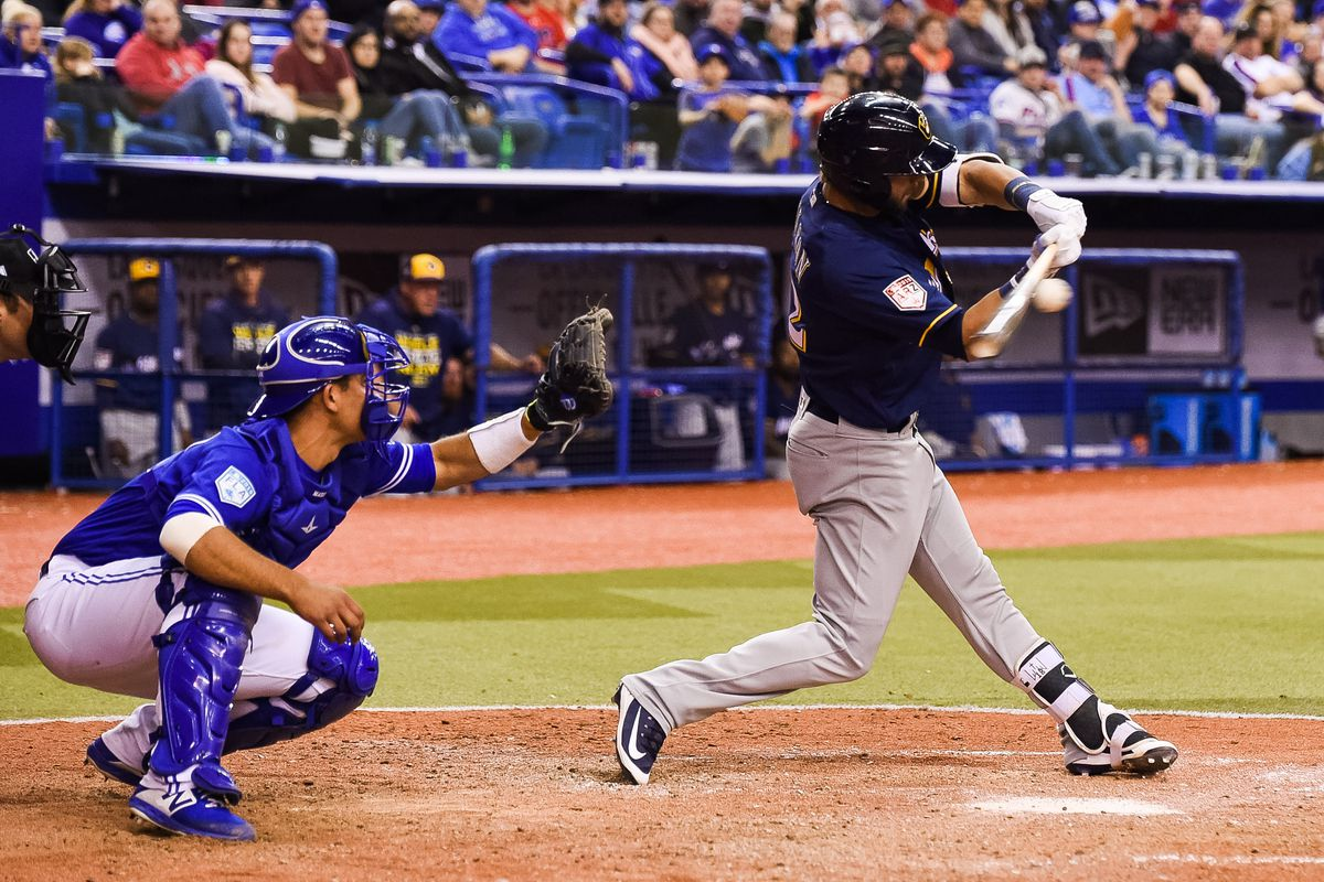 MLB: MAR 25 Spring Training - Brewers at Blue Jays