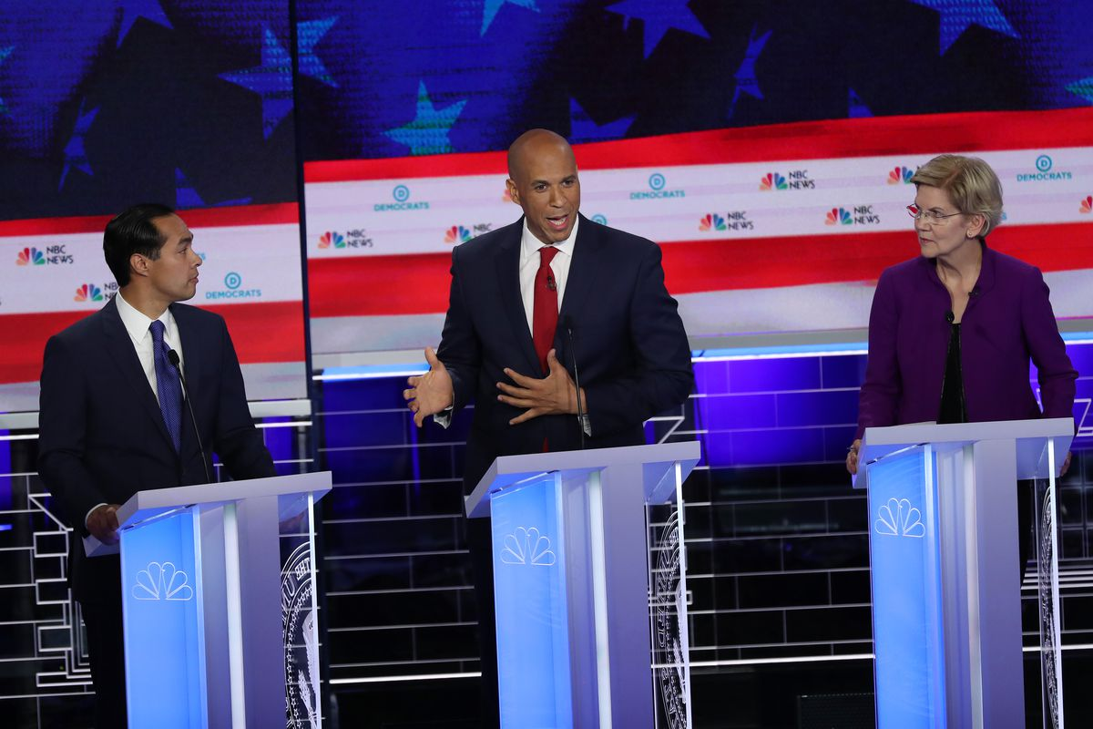 On the first night of the Democratic debate, Housing and Urban Development Secretary Julian Castro and Sen. Cory Booker were two of a handful of candidates to talk about race and racism.