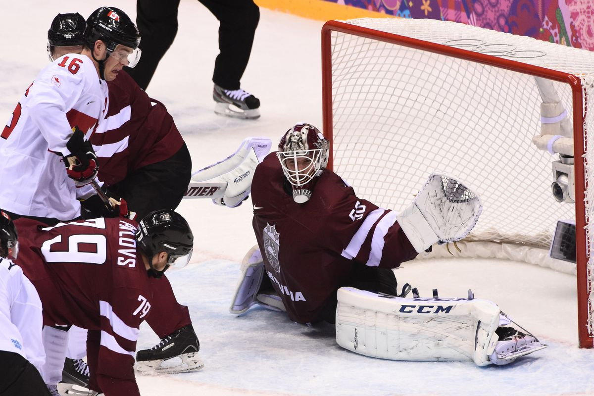 Gudlevskis made 55 of 57 stops in an incredible performance at the 2014 Olympic games.